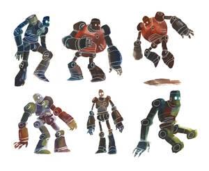 Watercolour Robots 2