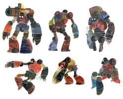 Watercolour Robots 3
