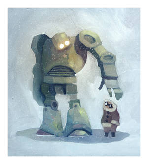 the robot in the snow
