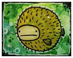 Little Paintings - Balloonfish by Duffzilla