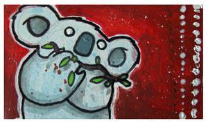 Little Paintings - koala by Duffzilla