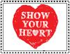 Stamp - SHOW YOUR HEART by IttyBittyVic