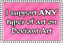 Stamp - I Support ANY Art by IttyBittyVic