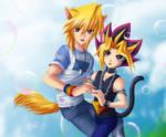 Catboy Yami and Dogboy Joey