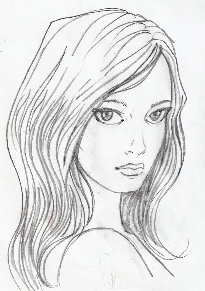 lonely face sketch by BLUEHAWK-55Simple Drawings Of Faces