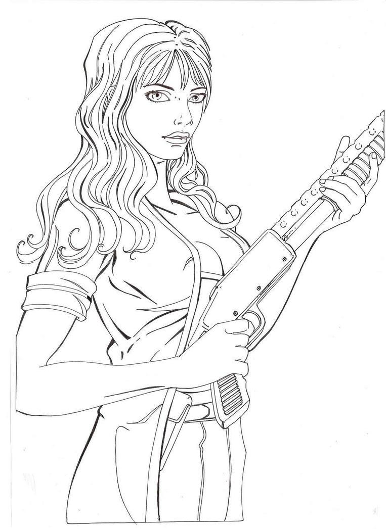 Line Drawing Of A Zombie : Zombie killer line art by bluehawk on deviantart