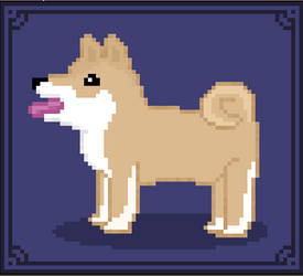 Pixel Art - Shiba