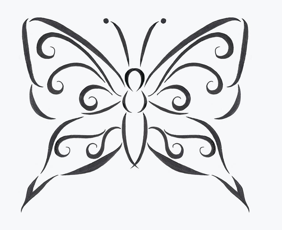 Line Drawing Butterfly Tattoo : Butterfly tattoo design by discosweetheart on deviantart