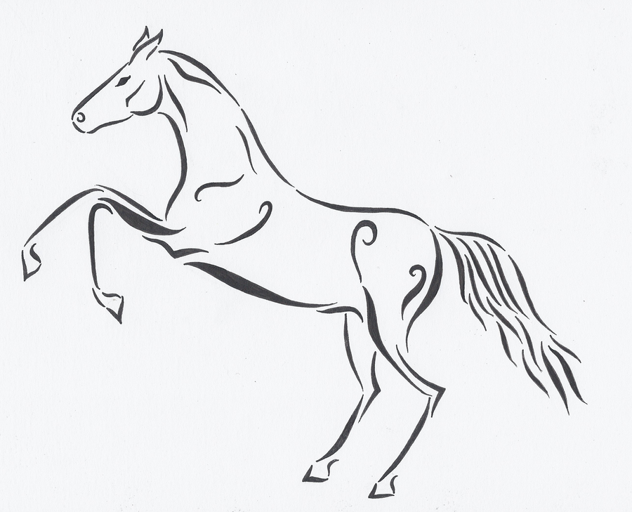 Line Drawing Horse Tattoo : Horse tattoo design by discosweetheart on deviantart