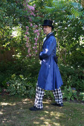 Victorian Steampunk gentleman STOCK side view by Cyan-stock