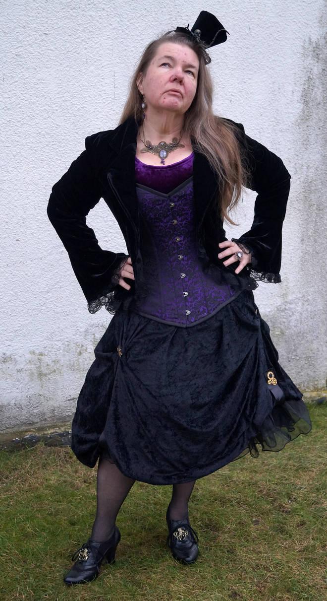 Steampunk victorian black velvet lady STOCK by Cyan-stock