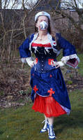Steampunk Fantasy Victorian Nurse outfit STOCK by Cyan-stock