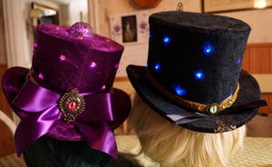 Steampunk top hats back STOCK by Cyan-stock