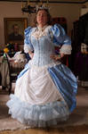 Steampunk Victorian ball gown Frost STOCK