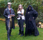 Steampunk Bounty hunters and sith STOCK