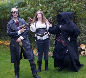 Steampunk Bounty hunters and sith 2 STOCK by Cyan-stock