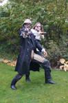 Steampunk Bounty hunters STOCK no 3
