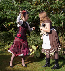 Steampunk Alice vs Queen of HEarts 2 STOCK by Cyan-stock
