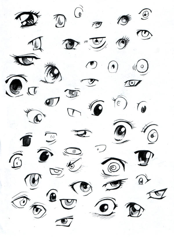 A Bunch Of Anime Eyes By Kangel On Deviantart