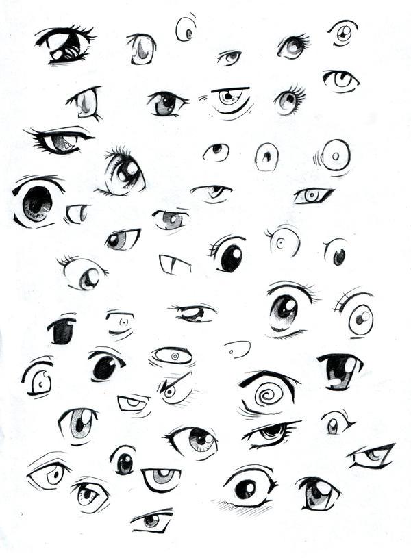 Рисунки карандашом лица эмоции