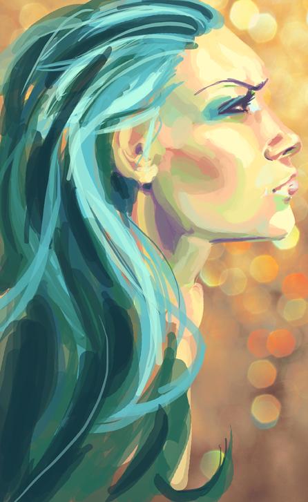 Speedpaint - Turquoise by kangel