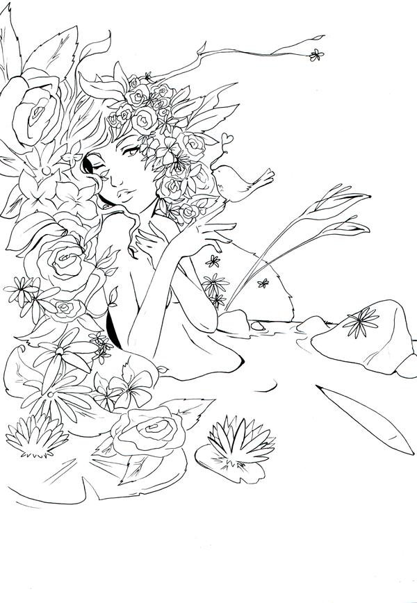 Lineart: Flowers by kangel