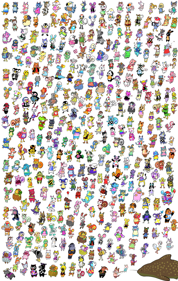 New leaf all villagers by kangel on deviantart for Animal crossing new leaf arredamento