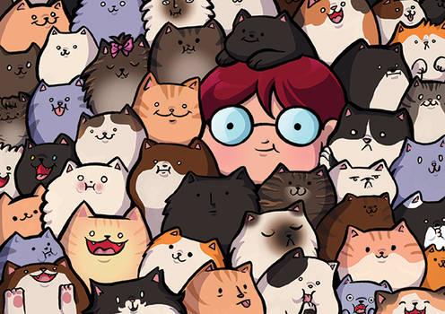 In the cat pile