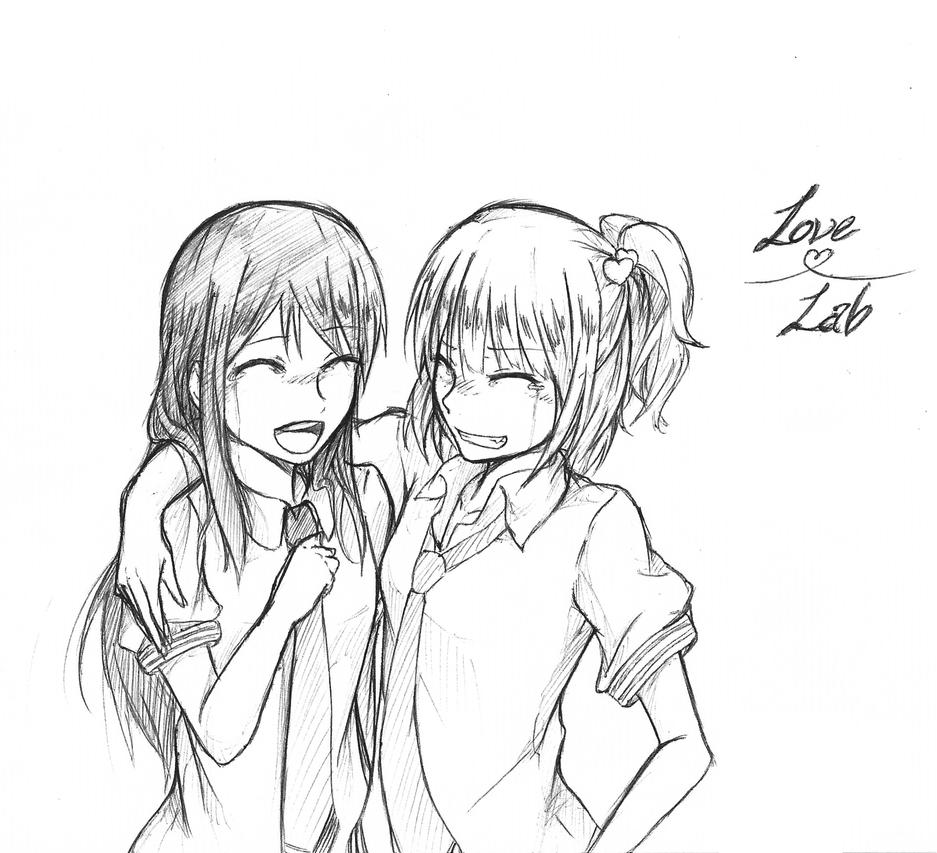 Tumblr Drawings Friendship Best friends drawings tumblrTwo Best Friends Hugging Drawing