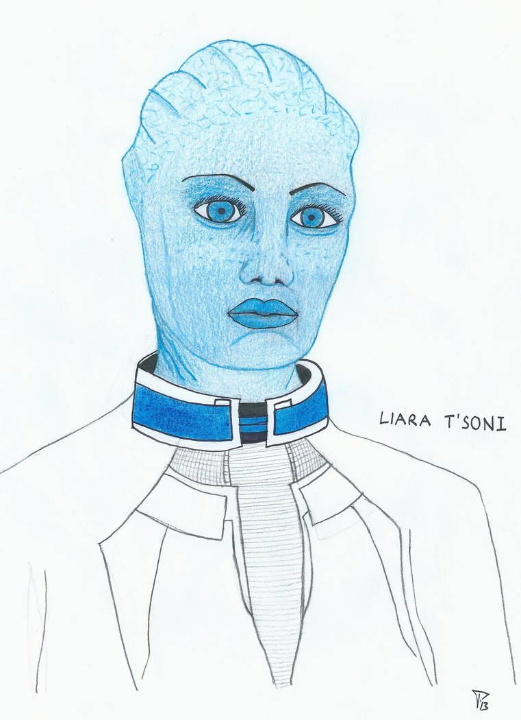 Liara T'Soni Portrait by kantiran