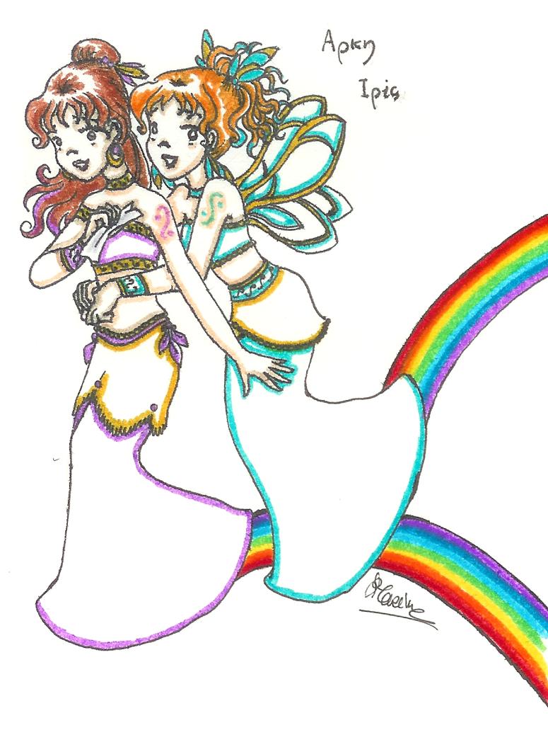 twins arke and iris by iris yukimihime on deviantart