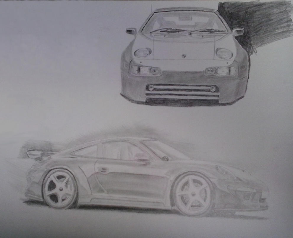 Porsche and Porsche by LynKar144-DeST