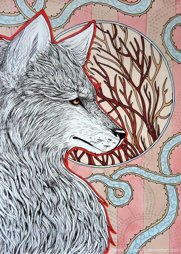 The Wolf by Vamphira
