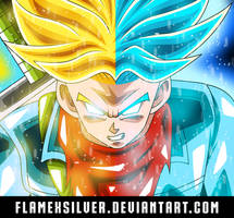 Future Trunks New Form! And Super Saiyan Blue! by FlameXSilver