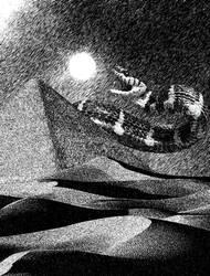 Apep Swallows the Sun -Pen Scratch- by PlagueJester