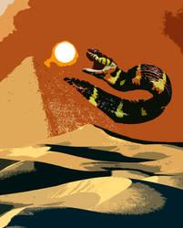 Apep Swallows the Sun -Color Blotch- by PlagueJester