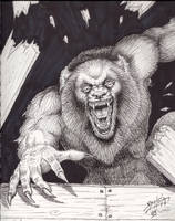 A comicbook style Werewolf by PaulSpatola