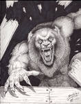A comicbook style Werewolf