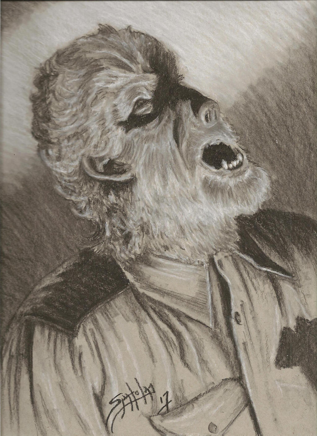 Howl of The Wolf Man by PaulSpatola