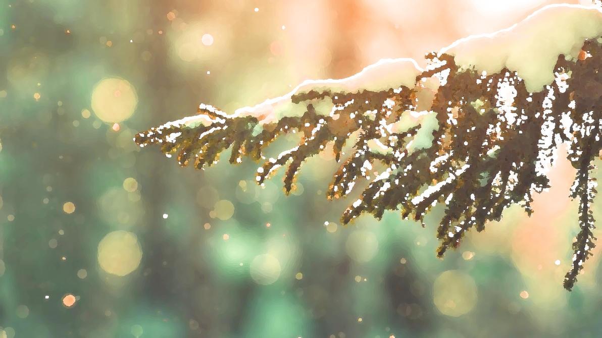 Snow Tree Wallpaper [1366x768] by Sikanako