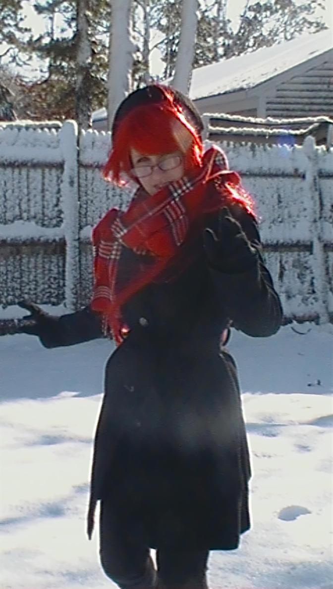 Chasing Love in the Snow by nightmarefreak101