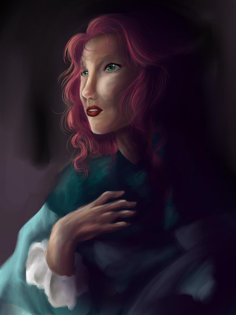 Self portrait Artemisia by nightmarefreak101