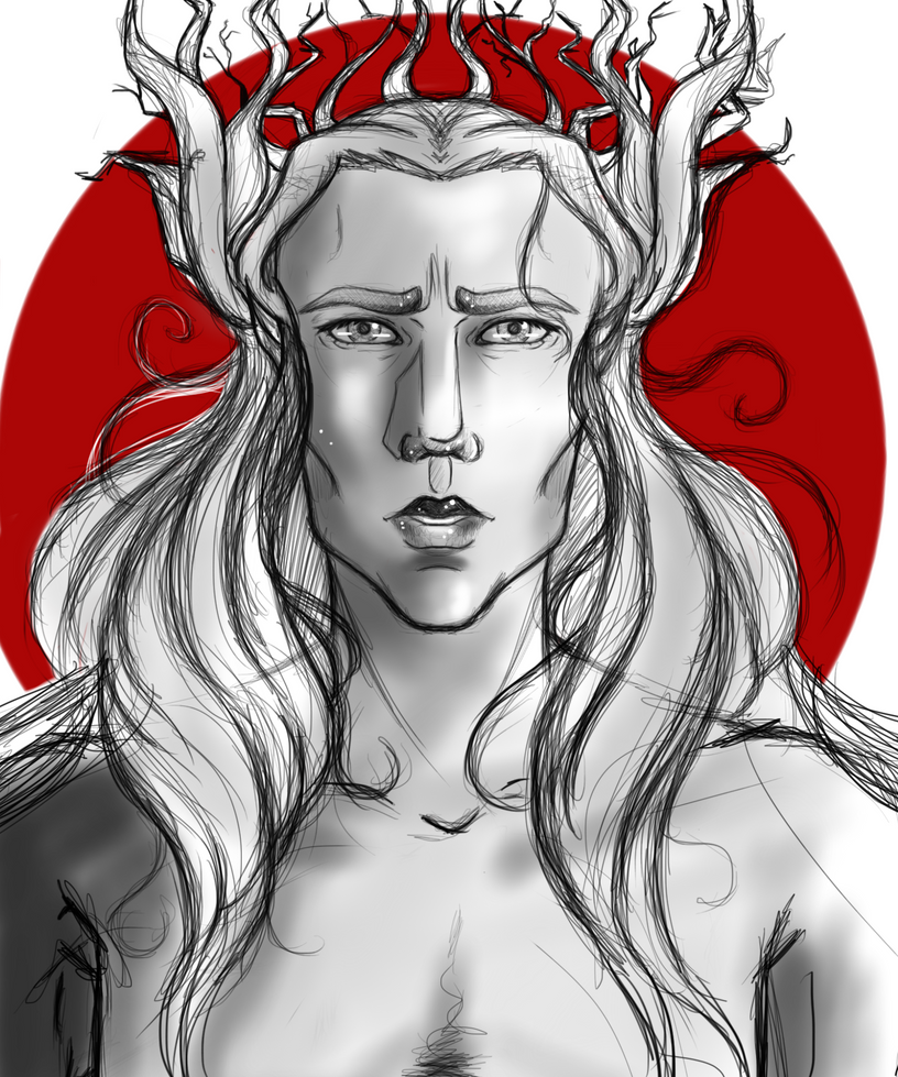 Elven King Doodle WIP by nightmarefreak101