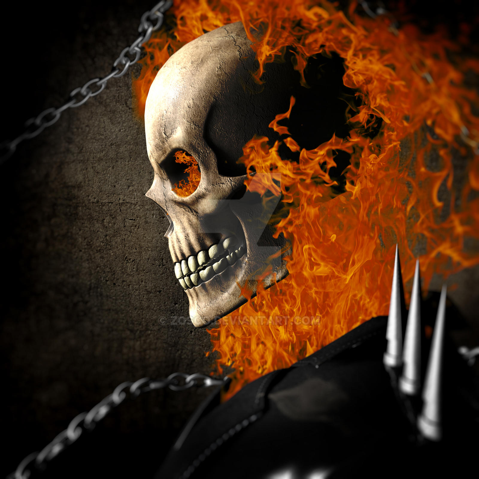 Ghost Rider HeadShot - New Series - by zosco on DeviantArt