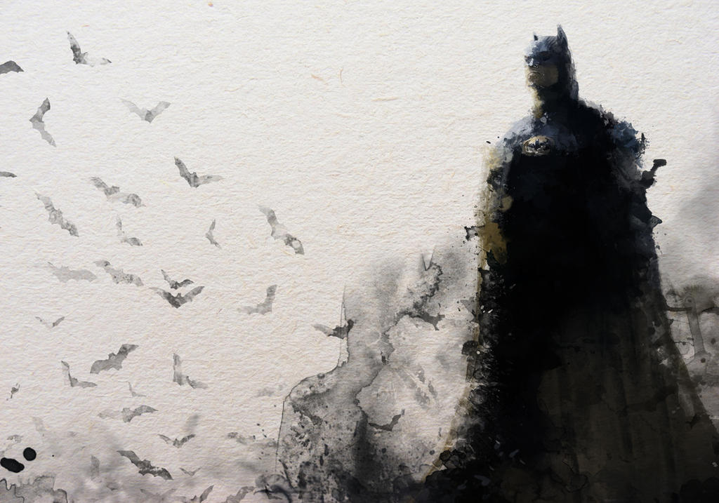 Batman Water Colour inspired by janditlev