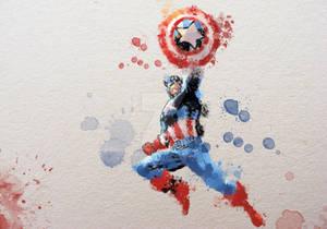 Captain America Watercolour