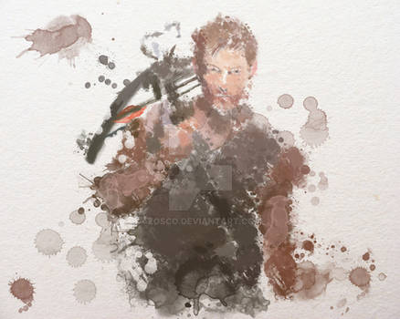 Daryl Dixon Water Colour   -   The Walking Dead