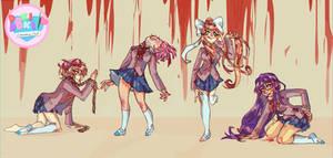 Doki Doki Literature Club by Marghy-Art