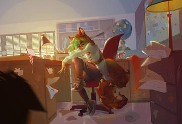 Relaxing by Marghy-Art