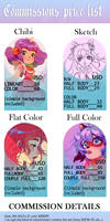Commissions Price List by Marghy-Art